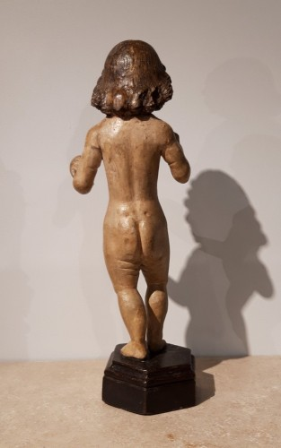 <= 16th century -  Child Jesus in carved wood circa 1520