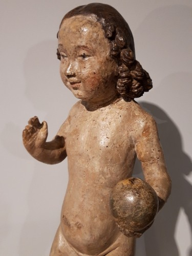 Renaissance -  Child Jesus in carved wood circa 1520