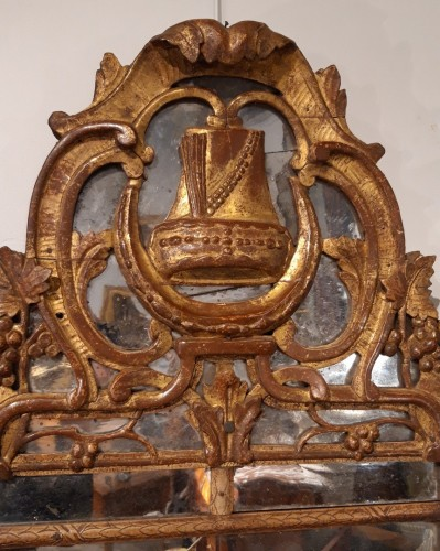 Mirror in gilded wood, late 18th century - Transition