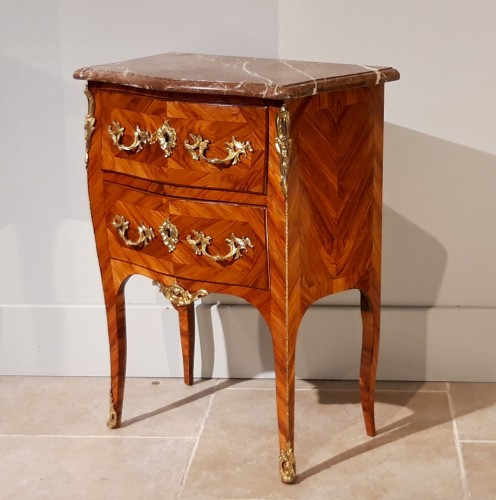 Furniture  - Louis XV commode stamped C.I. DUFOUR, 18th  century