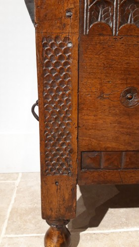 Walnut chest, late 16th early 17th century -