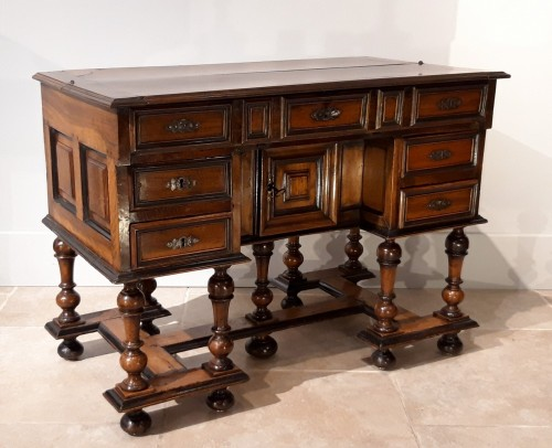 Furniture  - ''Mazarin''Louis XIII desk, 17th century