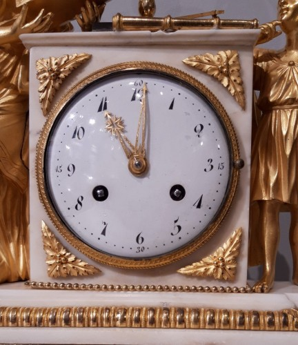 "Pendulum ""the lesson of Astronomy"" in gilded bronze, 18th  century - Clocks Style Louis XVI"