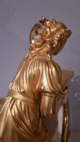 "Louis XVI - Pendulum ""the lesson of Astronomy"" in gilded bronze, 18th  century"
