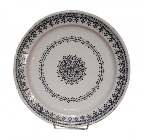 Large 18th century Rouen earthenware dish