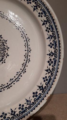 Porcelain & Faience  - Large 18th century Rouen earthenware dish