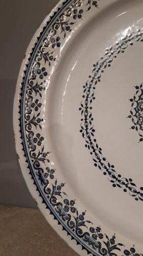 Large 18th century Rouen earthenware dish -