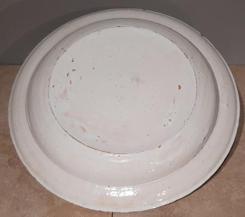 18th century - Large 18th century Rouen earthenware dish