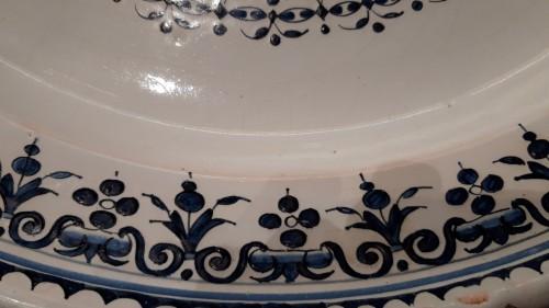 Large 18th century Rouen earthenware dish - Louis XV