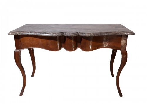 Louis XV console table in walnut
