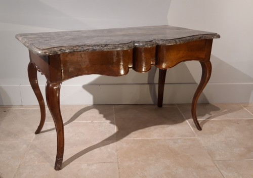 Furniture  - Louis XV console table in walnut