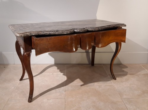 18th century - Louis XV console table in walnut