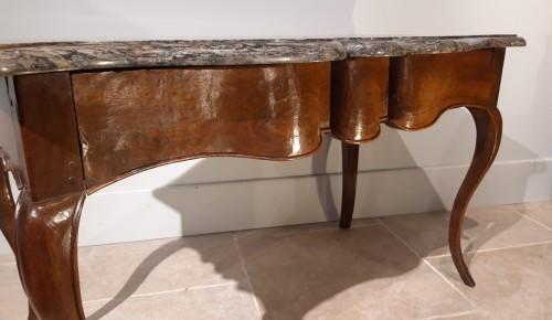 Louis XV console table in walnut - Louis XV
