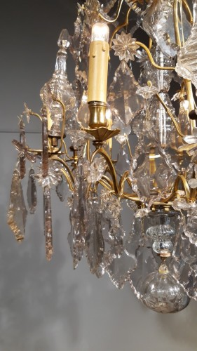 Chandelier in crystal and bronze, 18th century - Lighting Style Transition