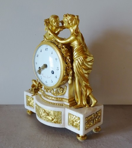 "Louis XVI pendulum ""Allegory of Love"" circa 1790 - Clocks Style Louis XVI"
