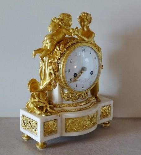 """Clocks  - Louis XVI pendulum """"Allegory of Love"""" circa 1790"""