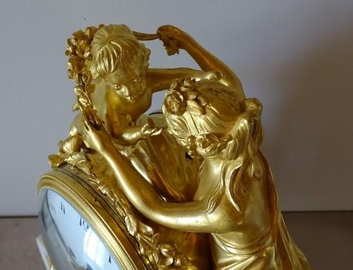 """Louis XVI pendulum """"Allegory of Love"""" circa 1790 -"""