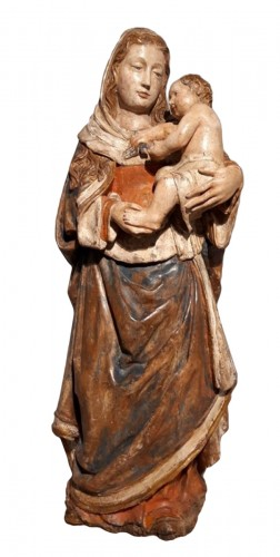 Madonna and Child in carved wood and polychrome circa 1510/1530