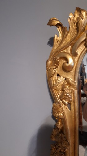 Louis XV - Louis XV mirror in gilded wood, 18th century