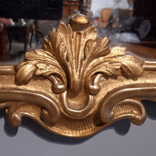 Antiquités - Louis XV mirror in gilded wood, 18th century