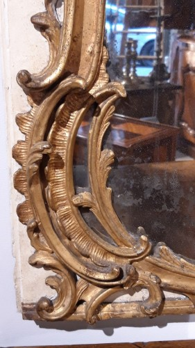 Louis XV - Large Louis XV mirror in gilded wood, 18th  century