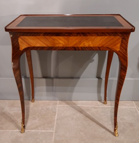 Inlaid writing table, Louis XV period - Furniture Style Louis XV