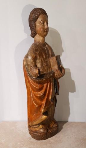 Polychrome Wooden Sculpture 16th Century - Sculpture Style Renaissance