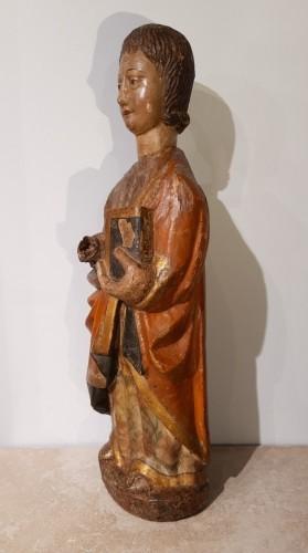 Sculpture  - Polychrome Wooden Sculpture 16th Century