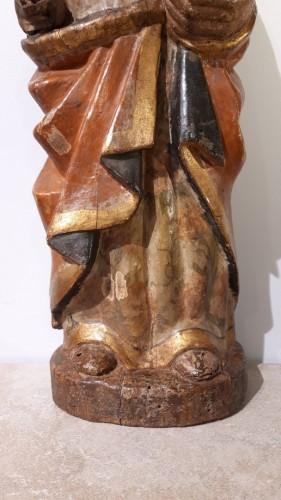 Polychrome Wooden Sculpture 16th Century -