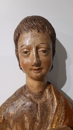 Polychrome Wooden Sculpture 16th Century - Renaissance