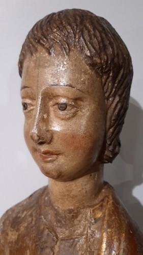 Renaissance - Polychrome Wooden Sculpture 16th Century