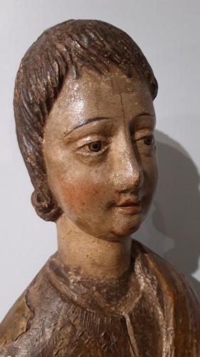 Antiquités - Polychrome Wooden Sculpture 16th Century