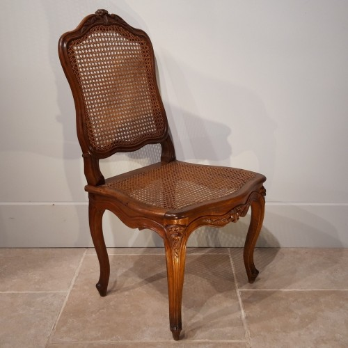18th century - Pair Of Louis XV Chairs Stamped Pierre Nogaret, Received Master In 1745