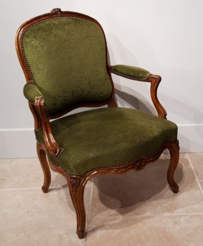 Seating  - Pair Of Louis XV Armchairs Stamped Pierre Nogaret (1718-1771)