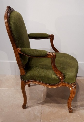 Pair Of Louis XV Armchairs Stamped Pierre Nogaret (1718-1771) -