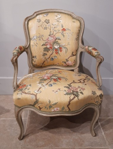 Seating  - Pair Of Louis XV Cabriolets Stamped Lc Carpentier, XVIII °