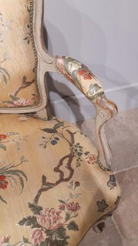 Antiquités - Pair Of Louis XV Cabriolets Stamped Lc Carpentier, XVIII °