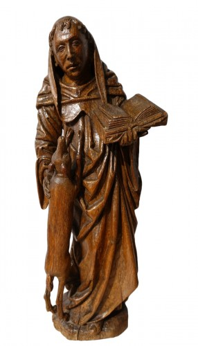 Saint Gilles In Carved Wood, 15th Century