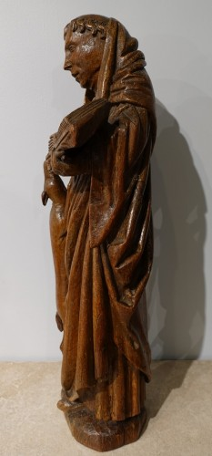 Saint Gilles In Carved Wood, 15th Century - Sculpture Style Middle age