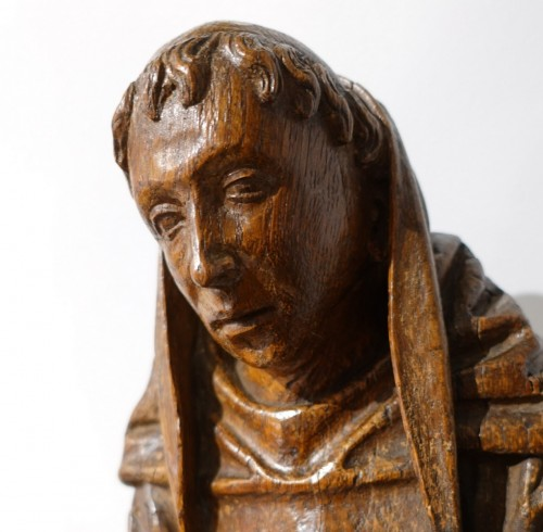 Sculpture  - Saint Gilles In Carved Wood, 15th Century