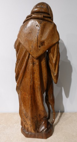 <= 16th century - Saint Gilles In Carved Wood, 15th Century
