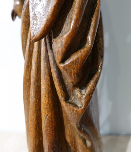 Saint Gilles In Carved Wood, 15th Century - Middle age