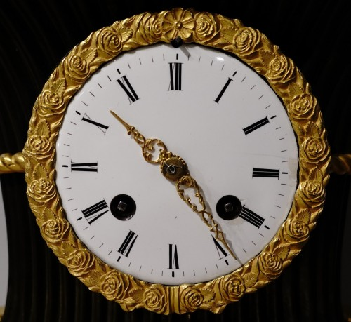 """Clocks  - Empire clock bearing the hallmark of the """"japy brothers"""" house"""