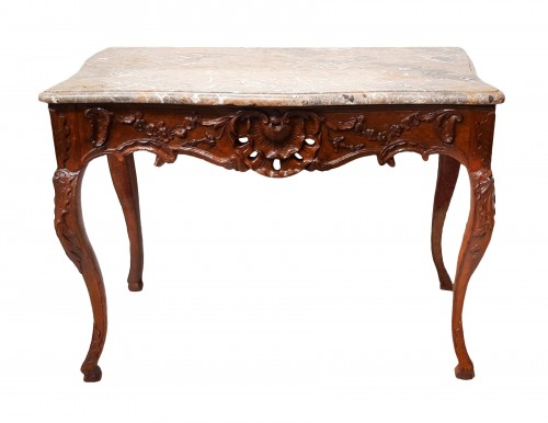 French table / console in oak, early 18th century
