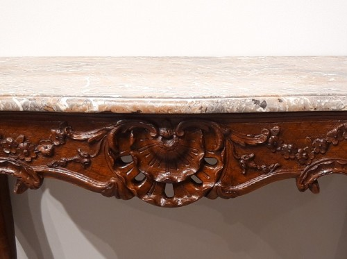 French table / console in oak, early 18th century - Furniture Style French Regence