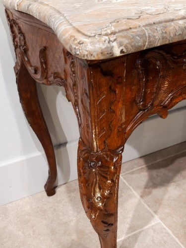 French table / console in oak, early 18th century - French Regence