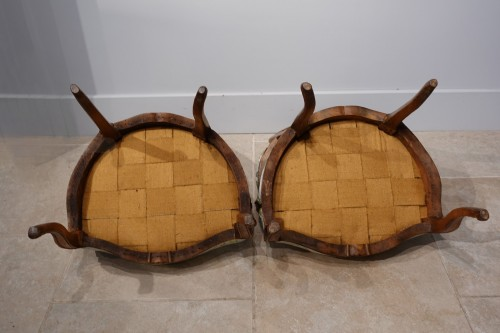 """Louis XV - Pair of Louis XV armchairs """" cabriolet"""""""