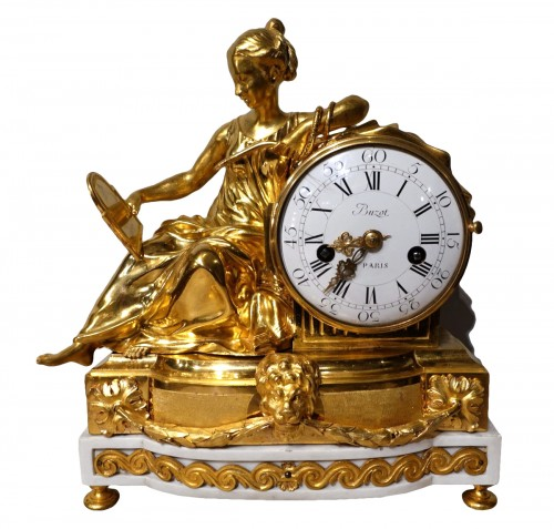 "Louis XVI french clock ""Allegory of Prudence"" signed Buzot"