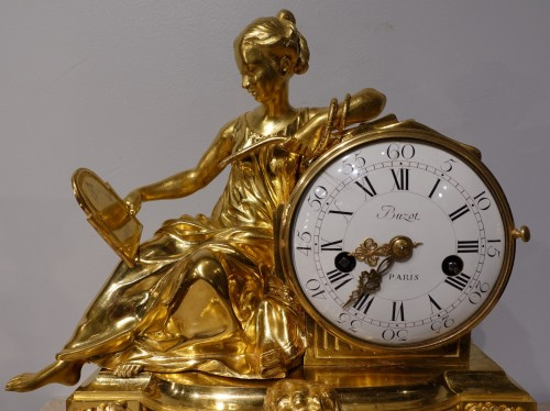 """Louis XVI french clock """"Allegory of Prudence"""" signed Buzot - Clocks Style Louis XVI"""