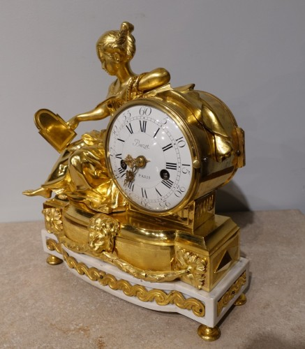 """18th century - Louis XVI french clock """"Allegory of Prudence"""" signed Buzot"""